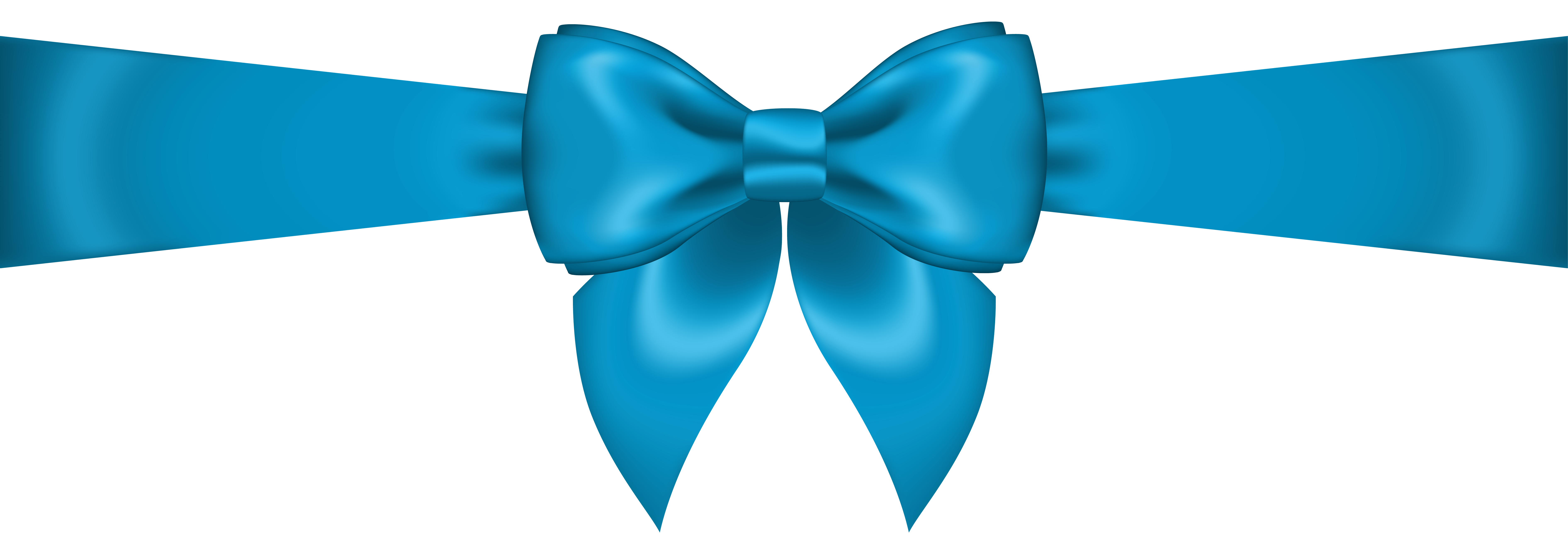 vector library Blue Bow Transparent PNG Clip Art Image