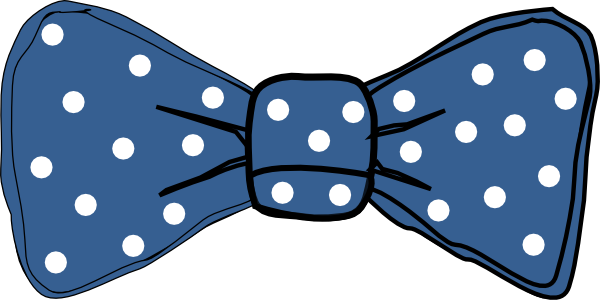jpg transparent download Bow Tie Blue With White Dots Clip Art at Clker