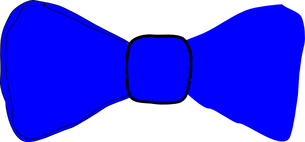 vector black and white download Blue Bowtie Clip Art at Clker