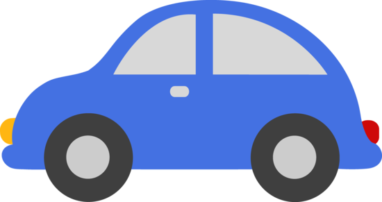 banner black and white download Blue Toy Car Clipart
