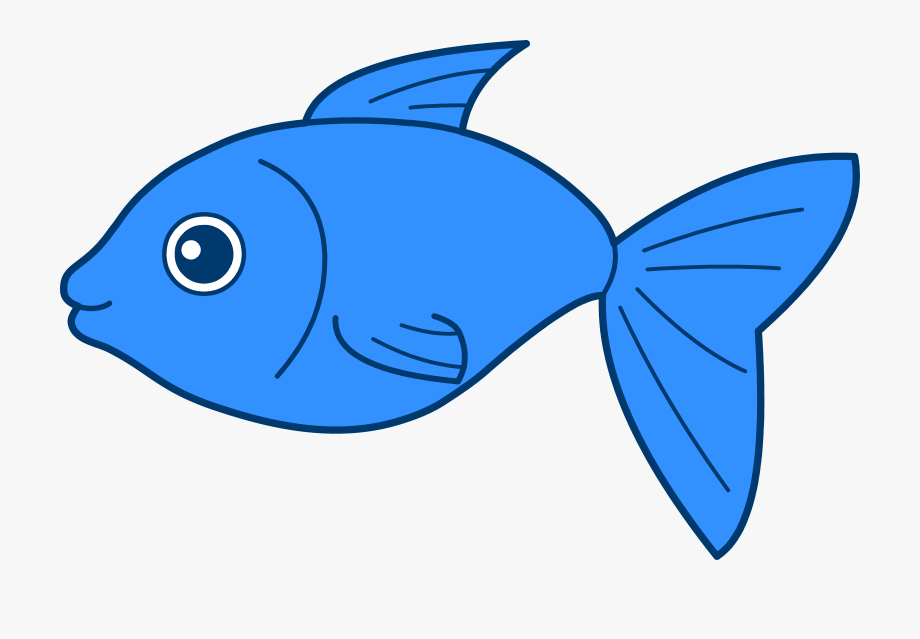 image royalty free download Blue clip art free. Fish clipart.