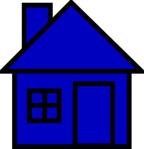banner freeuse library House clip art at. Blue clipart.