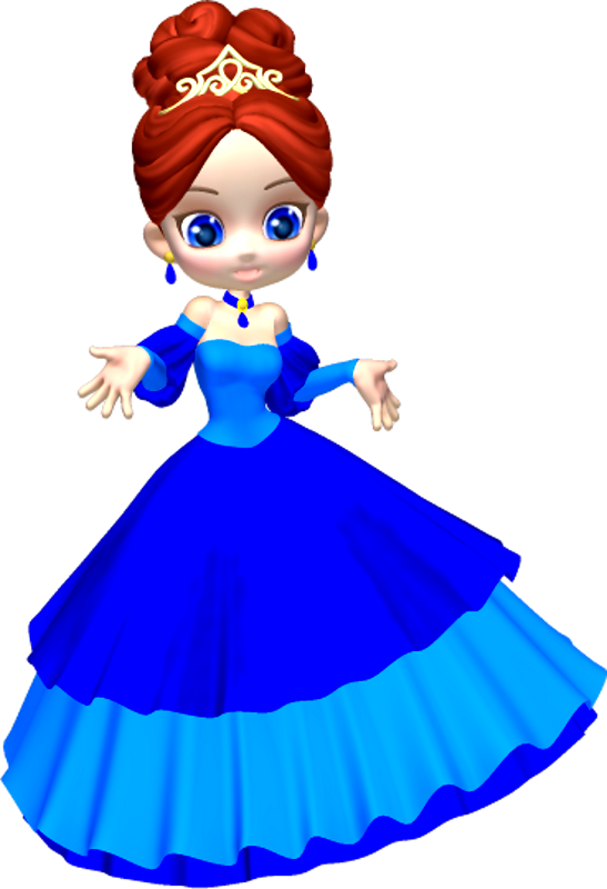 graphic download Princess in poser png. Blue clipart.