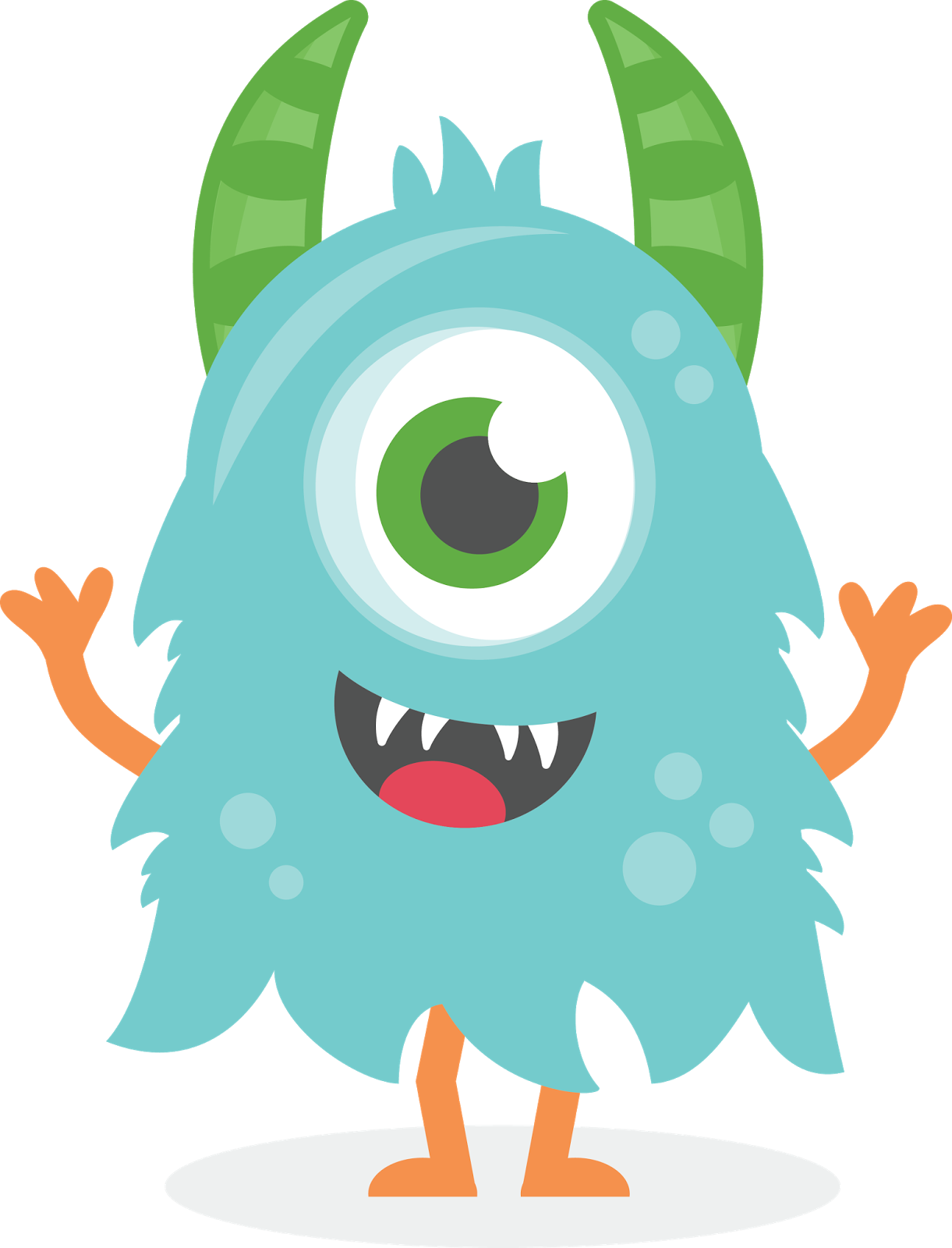 clip art free Monster cute pesquisa google. Blue clipart monsters.