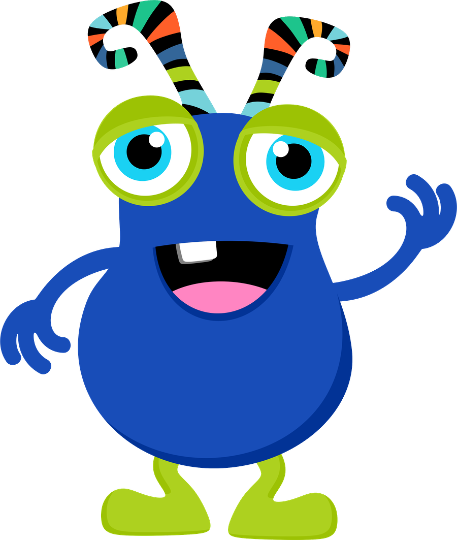 picture royalty free Blue clipart monsters.  t r pinterest.