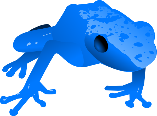 banner transparent library Endangered clip art at. Blue clipart poison dart frog.