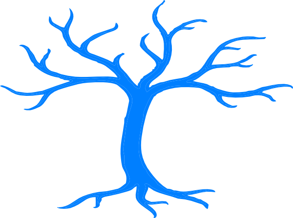 graphic freeuse stock Blue clipart tree. Clip art at clker.