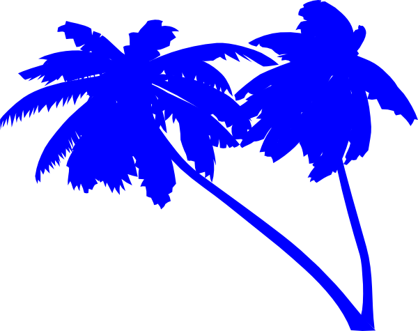 banner library Blue clipart tree. Palm trees silhouette download.