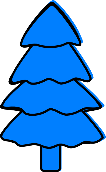graphic freeuse stock Clip art at clker. Blue clipart tree.