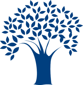 vector library download Clip art at clker. Blue clipart tree.