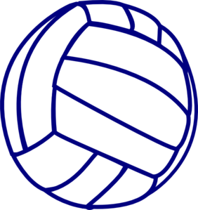 graphic black and white stock Blue clipart volleyball. Outline clip panda free.