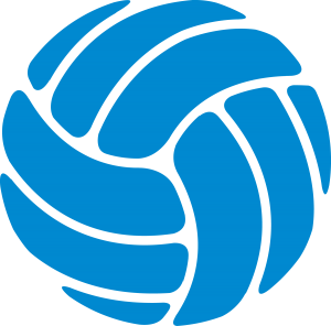 banner Youth sports ymca football. Blue clipart volleyball.