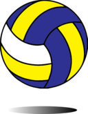 picture library download Blue clipart volleyball. I royalty free public.