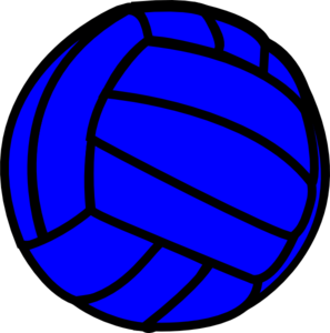 image library download Clip art at clker. Blue clipart volleyball.