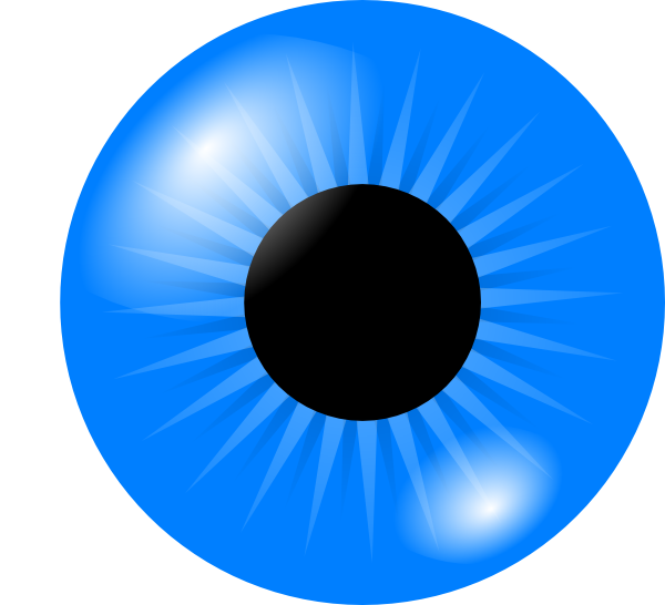 graphic library Light Blue Eye Clip Art at Clker
