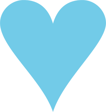 image stock Small Blue Heart Clipart