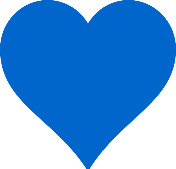 image royalty free Blue Heart Clipart
