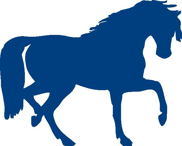 clip art stock Blue Horse Clip Art at Clker