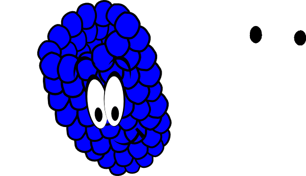 image royalty free library Smiling Blue Raspberry Clip Art at Clker