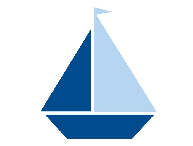 banner Sailboat free download best. Yacht clipart blue baby