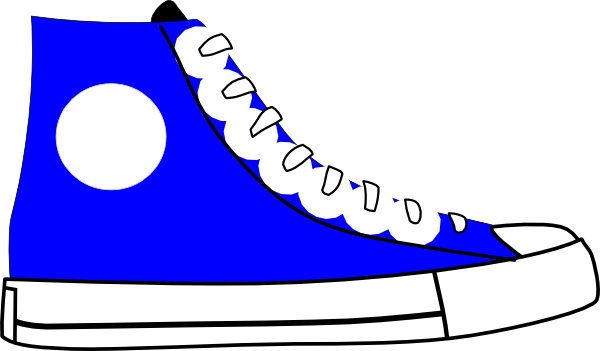 vector freeuse Blue Shoe Clip Art at Clker
