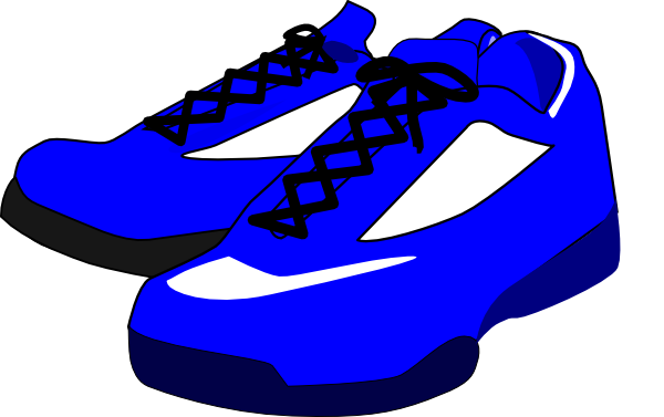 banner royalty free library Blue Shoes Clip Art at Clker