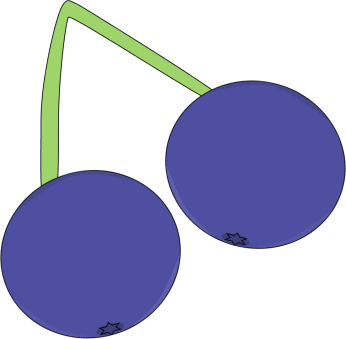 image transparent library Cherries clipart blueberry. Blueberries on a vine.