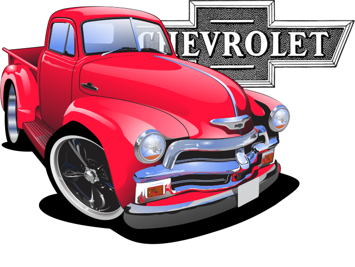 clip freeuse stock American muscle cars cartoon. Trucks drawing pen.