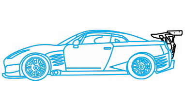 graphic freeuse stock Sports Car Drawing at GetDrawings