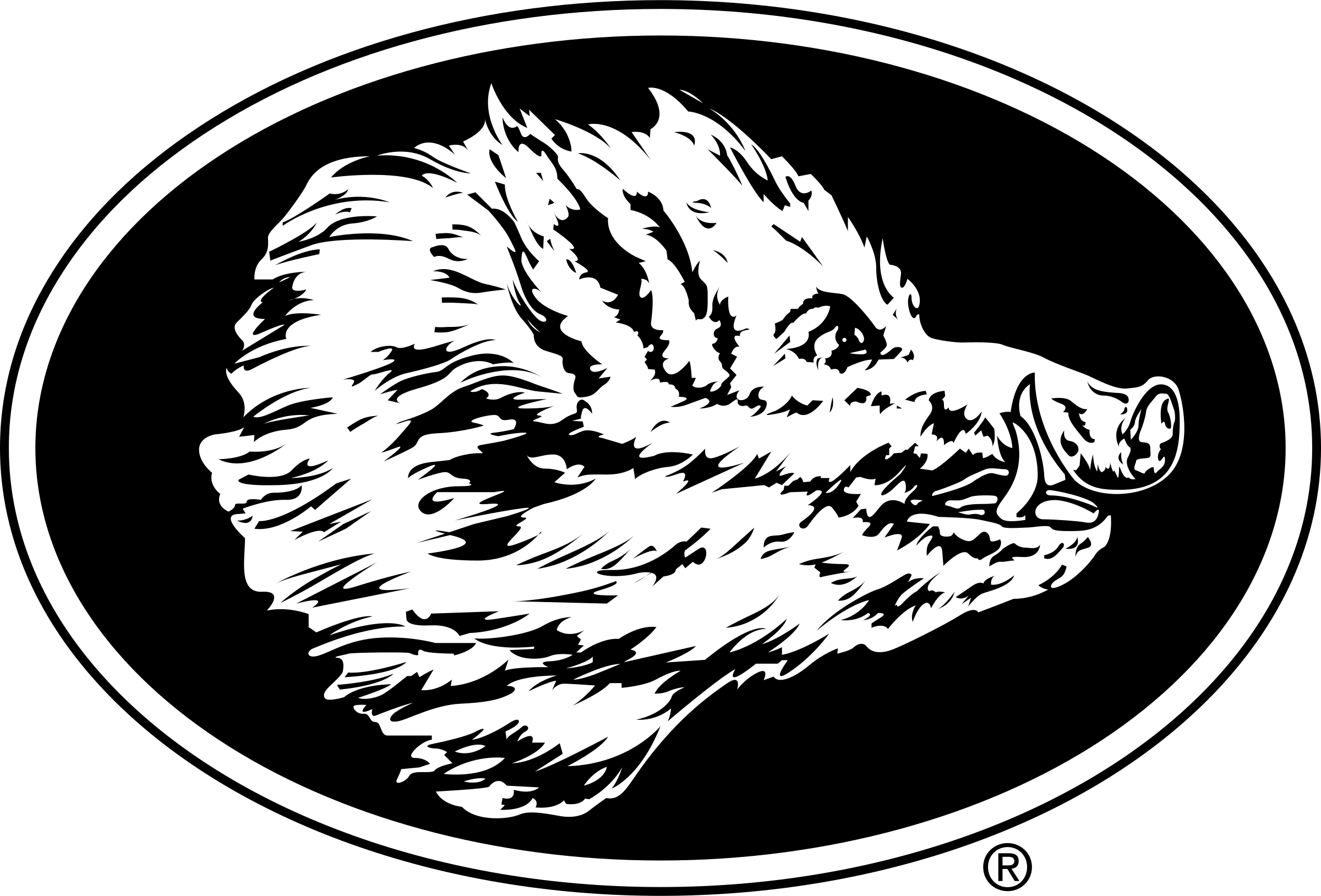 graphic black and white stock Boar vector black and white. Boars head logo png
