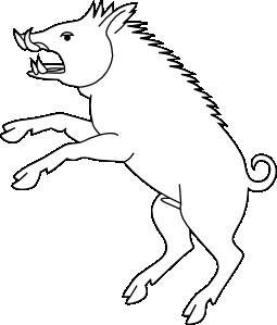 transparent download Wild clip art at. Boar vector cartoon