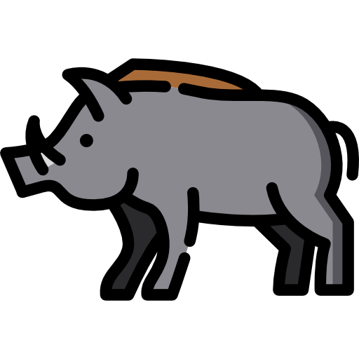 picture royalty free Wild free animals icons. Boar vector design