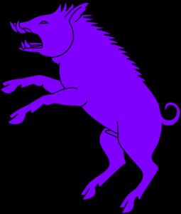 clipart freeuse library Boar Purple Clip Art