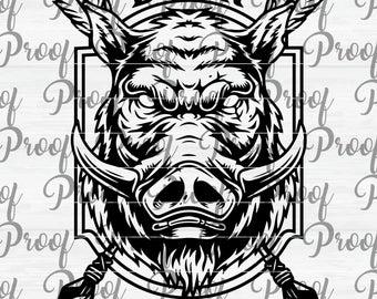 vector royalty free Boar vector hog hunting. Etsy
