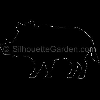 graphic stock Boar vector silhouette.