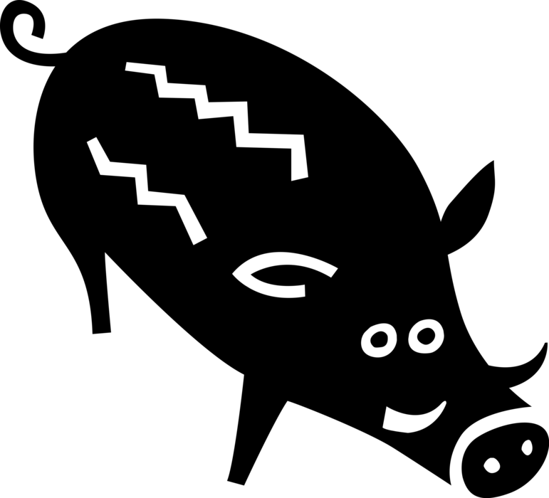 clipart transparent library Boar vector silhouette. Clip art wild graphics