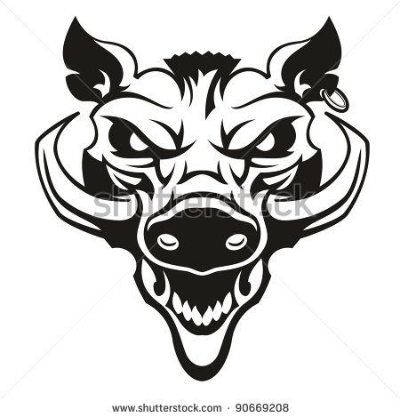 svg black and white Pin on think ink. Boar vector skull