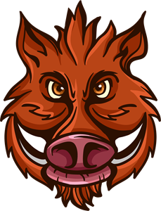 clip art library download Wild logo eps free. Boar vector