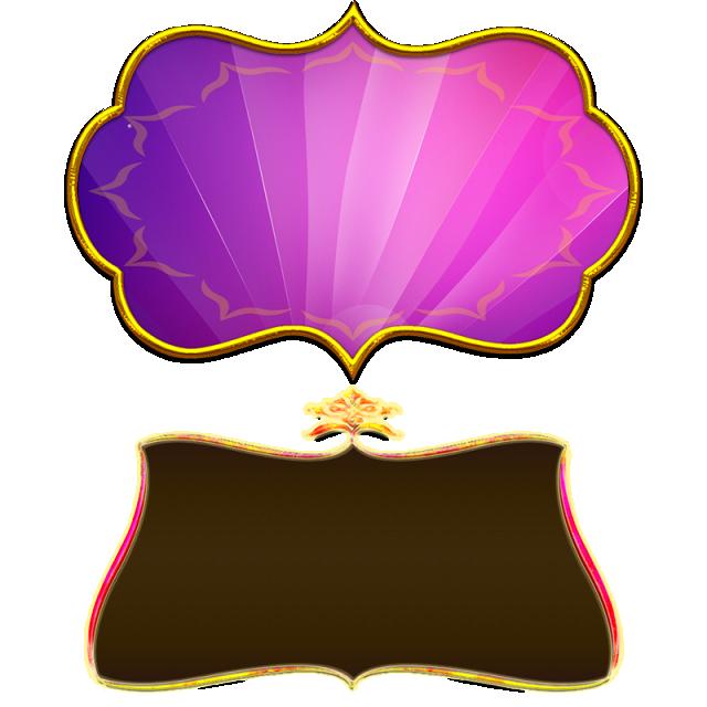 banner freeuse download Board clip gold. Violet title brown png