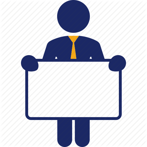 jpg black and white download Business man color by. Board clip person