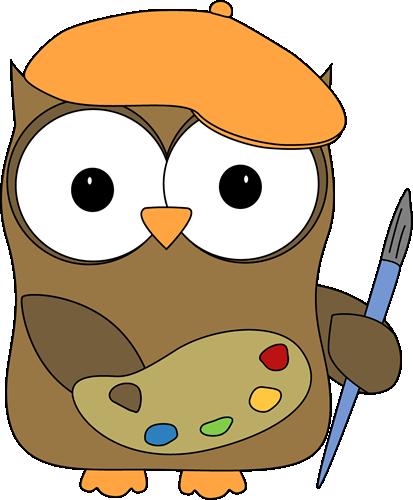 clipart stock Owl as artist google. Board clipart painter.