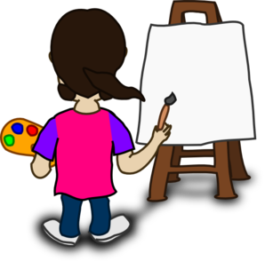clip Cartoon Character Painting Blank Slate Clip Art at Clker