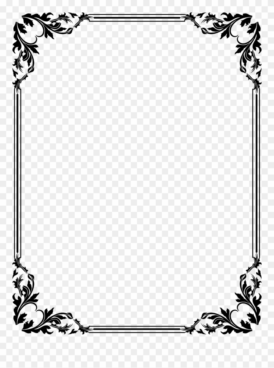 jpg black and white download Frame borders clipart. Free download clip art