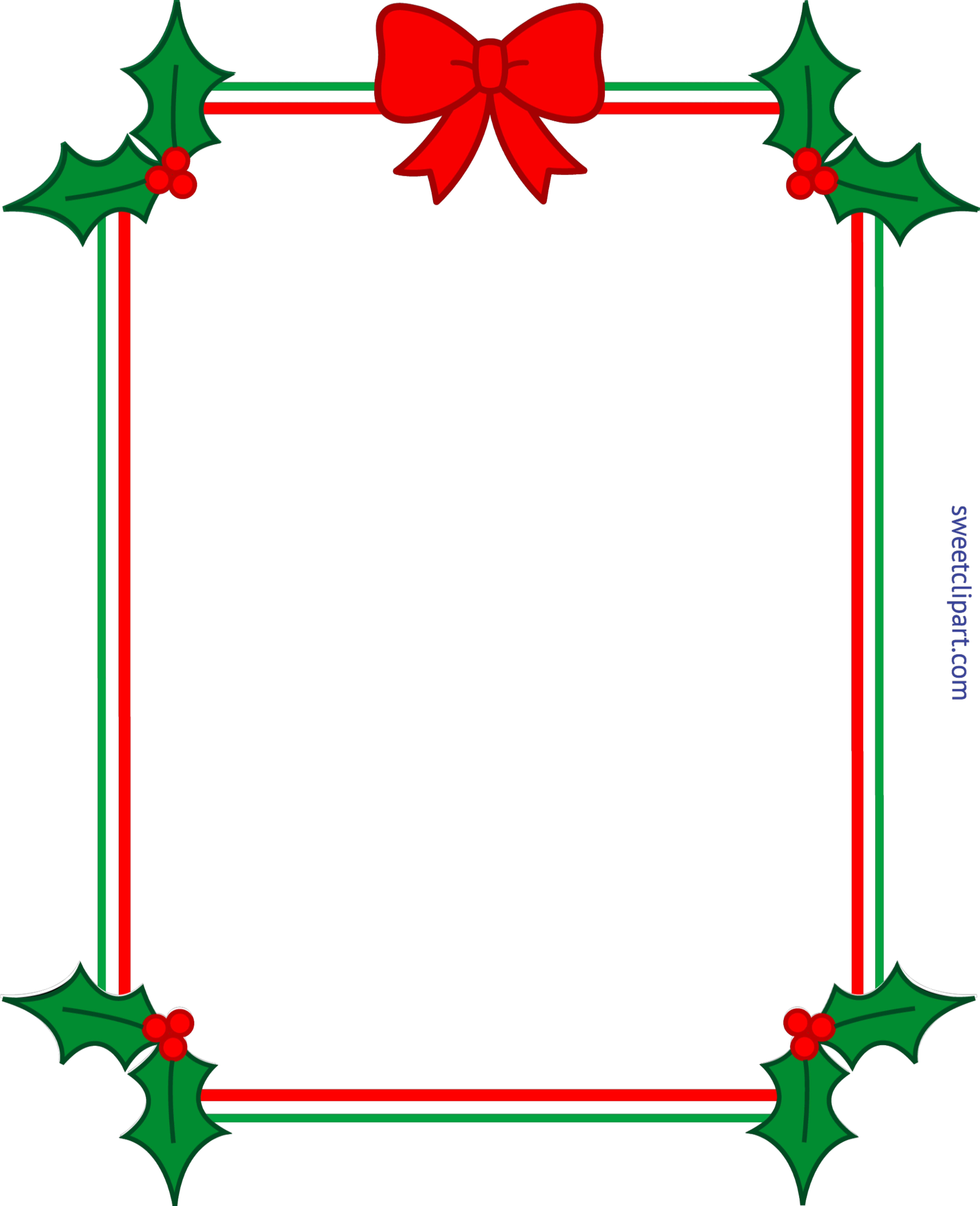 picture transparent library Boarder clipart holly. Christmas border frame ribbon