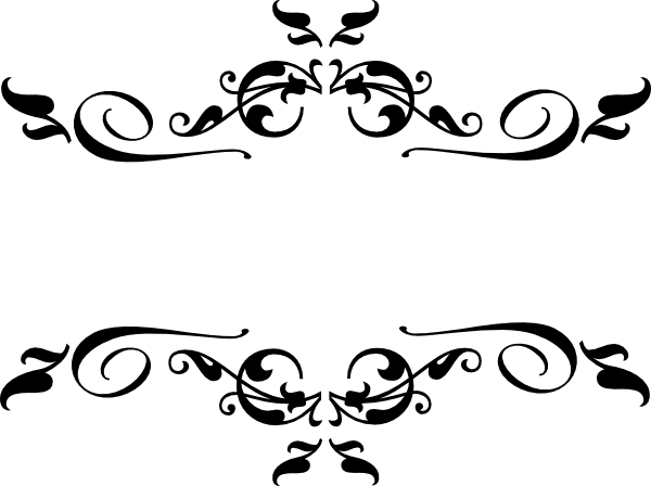 vector free library Black heart and bows. Vector dividers filigree