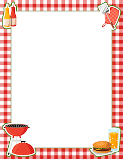 picture library download Boarder clipart picnic. Free food borders clip.