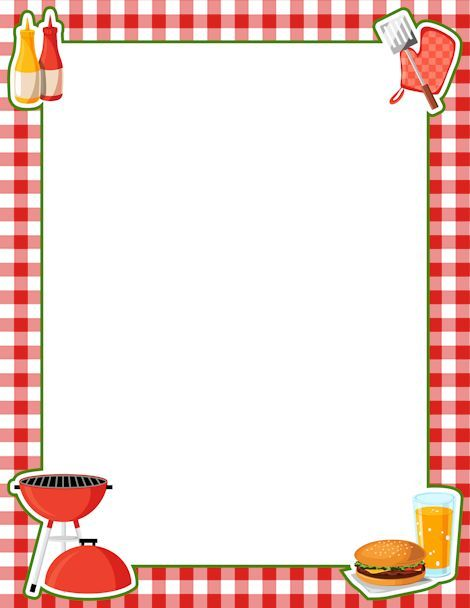 png Boarder clipart picnic. Cookout clip art free.
