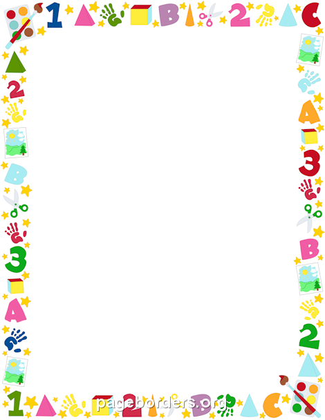 clipart library stock Pin by muse printables. Preschool clipart borders