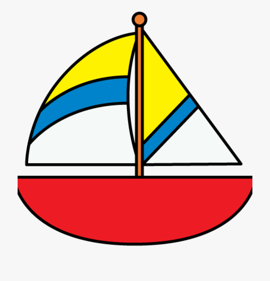 graphic black and white Sailboat kids free . Boat clipart