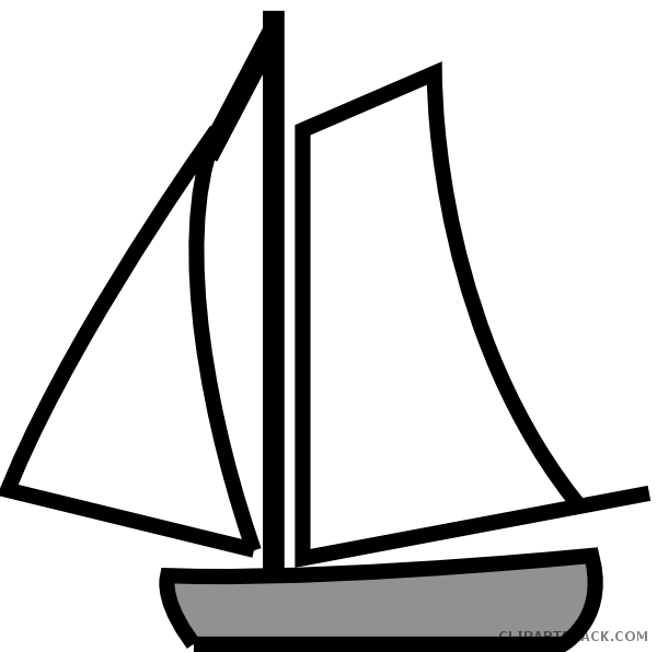 graphic royalty free Boat clipart black and white. Sailing clipartblack com transportation